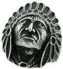 Indian Chief Head Ring Native American Men's Band