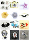 Adjustable oil spot camera ring w/ crystals 3 to choose