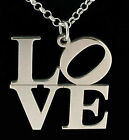 925 STERLING SILVER LOVE NECKLACE PENDANT CHAIN UK MADE
