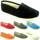 LADIES WOMENS CANVAS PUMPS TRAINERS FLAT SHOES SIZE 3-8