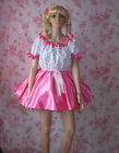 FANCY DRESS SISSY SATIN AND COTTON PARTY DRESS LOLITA COSPLAY