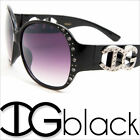 SUNGLASSES WOMENS RHINESTONES CELEBRITY ELEGANT SHADES OVERSIZED SUNNIES IG009D