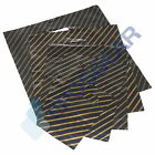 Black & Gold Stripe Gift Jewellery Plastic Carrier Bags
