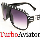 Black Millionaire Turbo Aviator Sunglasses Shades Retro