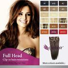 Kyпить Full Head Clip in Remy Human Hair Extensions на еВаy.соm