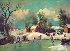 3860.Country skating Scene POSTER.Wall Art Decorative.Home interior design