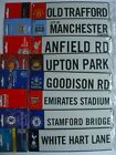 FOOTBALL - 3D HANGING Metal Window Sign {8 Clubs}