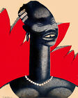 1593 African woman painting Vintage POSTER. Home Decorative Art.Interior Design