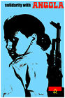 3147.Solidarity Angola.Female fighter African POSTER.Political Decorative Art.