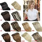 New free shipping 16 INCH/40CM clip in human hair extensions,black brown blonde