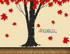 """Wall Decor Decal Sticker Removable vinyl large Maple tree fallen leaves 96"""" D339"""