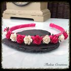 ROSE FLOWER ALICE BAND**Wedding Accessories*Flowergirl*Bridesmaid*Vintage*Boho**
