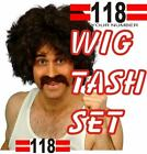 118 FANCY DRESS SET INCS WIG & TASH MOUCHTASH NEXT DAY DELIVERY POSSIBLE