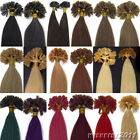Straight Nail Keratin-tipped Human REMY Hair Extensions 100sS 18Colors& 5 Length