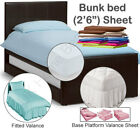 "Bunk Bed Size sheets in a variety of Dark colours -  2'6"" 2ft6 2foot6 2feet6"