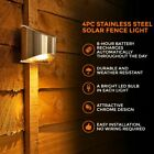 SET OF 2/4/6/8 GARDEN BRIGHT WHITE LED SOLAR POWERED FENCE SHED WALL DOOR LIGHT