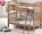 Bunk Beds - New Childrens Maple Wooden Bunkbed - Safe & Solid Hard Wood Bunks