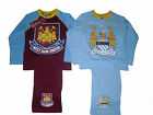 BOYS PYJAMAS FOOTBALL MANCHESTER CITY/WEST HAM UNITED 3 4 5 6 7 8 9 & 10 YRS OLD