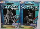 Grafix Large SILVER SCRAPER FOIL fun board boards Kids Craft Art Horse Rabbit
