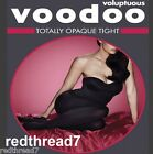 Voodoo Voluptuous Black Totally Opaque Tights Pantyhose Plus Size 18 20 22 24