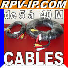 5M 10M 20M 30M 40M Cable RCA Video Audio Alimentation Camera Video Surveillance