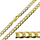 """Heavy 9ct Gold Plated on  925 Sillver 20- 30"""" Inch 7.2mm Curb Chain Necklace"""