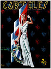 """166.Cuban Quality Design patriotic poster""""Lady Cuba with Seal and Flag.Decor"""