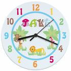 CHILDRENS BOYS GIRLS PERSONALISED CLOCK Funky 1st Birthday Christening Gift Idea