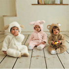 Winter Animal bodysuit Fleece Baby boy Girl Clothes Bear Pig Sheep Special