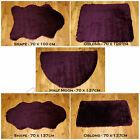 NEW PLAIN FLUFFY WASHABLE SOFT FAKE FAUX FUR AUBERGINE COLOUR SHEEP SKIN RUGS