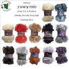 FANCY THIS - CHUNKY FOXY STYLE FUR-LIKE KNITTING YARN - various shade options