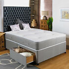 "4FT SMALL DOUBLE DIVAN BED +11"" POCKET SPRUNG MATTRESS + HEADBOARD/DRAWERS SALE"