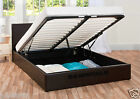 Storage Ottoman Bed With Mattress Choice Single Double King Size Brown Black