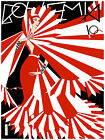 "525.Cuban fashion poster""Incredible DECO woman in Red"".Carteles cover art"