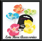 NEW Rockabilly Kitsch Pinup Tonal Tropical Orchid Hair Flower Corsage Clip
