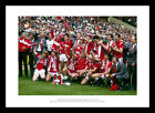 Manchester United 1985 FA Cup Final Team Celebrations Photo Memorabilia (326)
