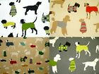 Prestigious Mans Best Friend Dog Designer Cotton Curtain Upholstery Fabric