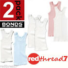 Bonds Baby New 2 Pack Singlet Singlets Vest Girl Boy Kids Size 0000 000 00 0 1 2