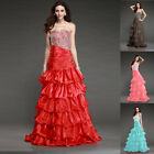 Prom Ball Mermaid Wed Dress Bridal Cocktail Gowns Bridesmaid Party Long Dresses