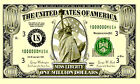 ONE MILLION DOLLAR Bill Money Statue of Liberty Large Sign 3x5 Poly Banner Flag