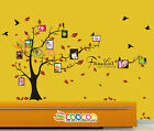 """Wall Decal Sticker Removable Photo Frame Tree Family Quote 39""""H x 80""""W 2 COLORS"""
