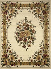 IVORY CREAM FLORAL PERSIAN BORDERED AREA RUG TRADITIONAL ORIENTAL COUNTRY CARPET