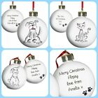 PERSONALISED CHRISTMAS GIFT PRESENT IDEA FOR PETS, DOG, CAT, RABBIT TREE BAUBLES