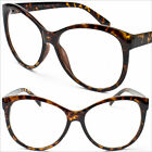 Clear Lens Glasses Womens Tortoise Shell New Professor New Vintage Cat Eye P9729