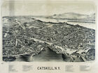 6131. Catskill, N.Y panoramic view painting POSTER. Wall Art Decorative.