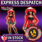 FANCY DRESS COSTUME RED LADIES GLITZY PIRATE