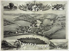 6198. Valley Force, Pa. 1890 Eyes bird view POSTER.Home Wall Art Decorative.