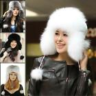 Top Stylish Beautiful real farms Rex fox fur Ushanka Bomber hat cap cool