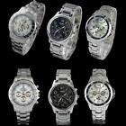 100% New Fashion Brand Watches Men Nice Stainless Steel Men's Watch