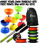 Rubber Top Diabolos - Create Your Diabolo Set - Add Sticks, String + FREE BAG!